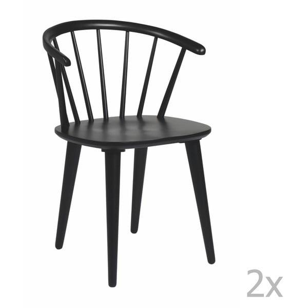 Zestaw 2 czarnych krzeseł Folke Carmen