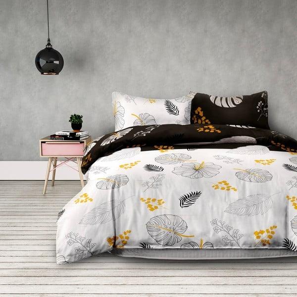 Lenjerie de pat din flanel AmeliaHome Floral Rain, 135 x 200 cm