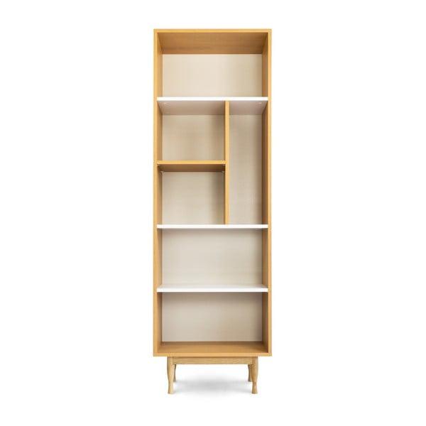 Knihovna z dubového dřeva SKANDICA Elza