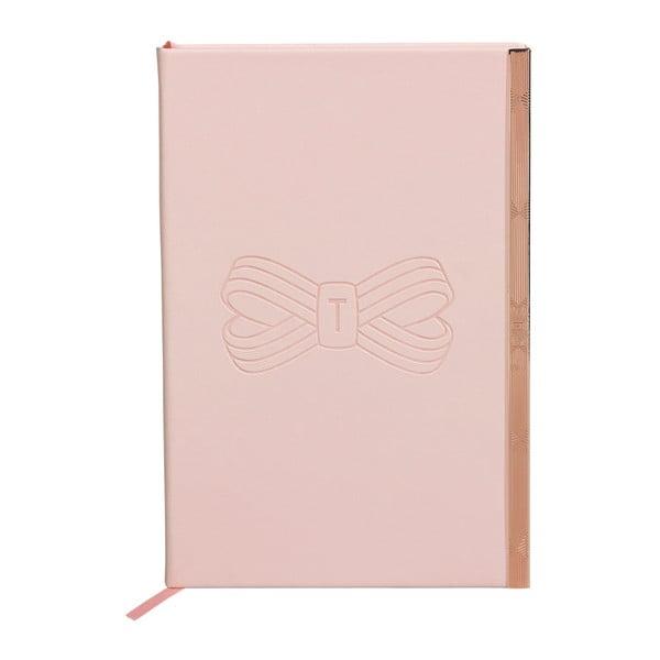 Agendă Ted Baker Soft TouchA5, 192 file, roz