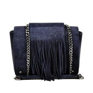 Tmavě modrá kožená kabelka Luisa Vannini Resto