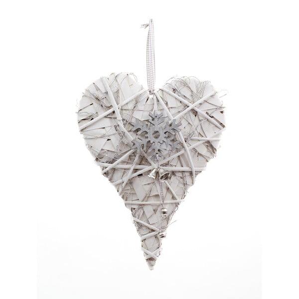 Závěsná dekorace ve tvaru srdce Ego Dekor Snowflake, výška39cm