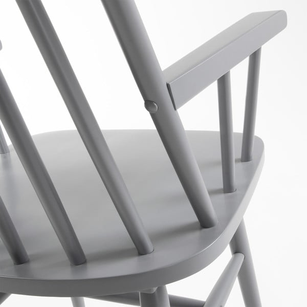 Světle šedá jídelní židle ze dřeva kaučukovníku La Forma Kristie