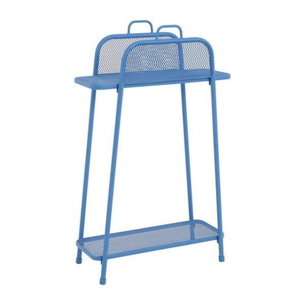 MWH kék fém erkély polc, magasság 105,5 cm - ADDU