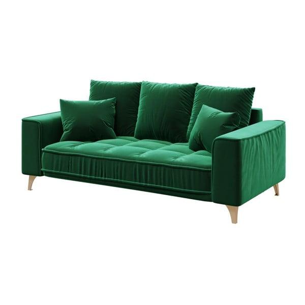 Tmavě zelená dvoumístná pohovka devichy Chloe