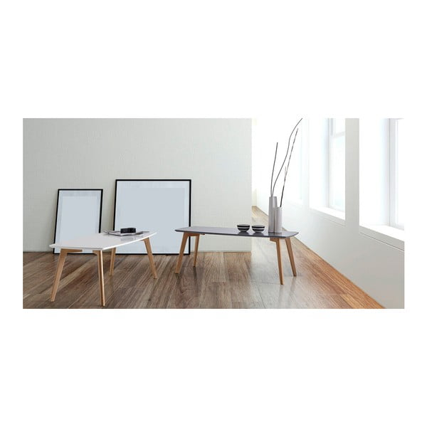 Bílý konferenční stolek sømcasa Marco