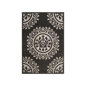 Černokrémový koberec vhodný i na ven Safavieh Delancy, 160 x 231cm