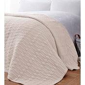 Krémový přehoz přes postel Bianca Simplicity, 200x200cm