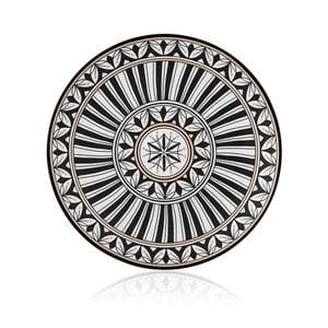 Černobílý talíř z kostního porcelánu The Mia Maroc Rabbat, ⌀ 32 cm