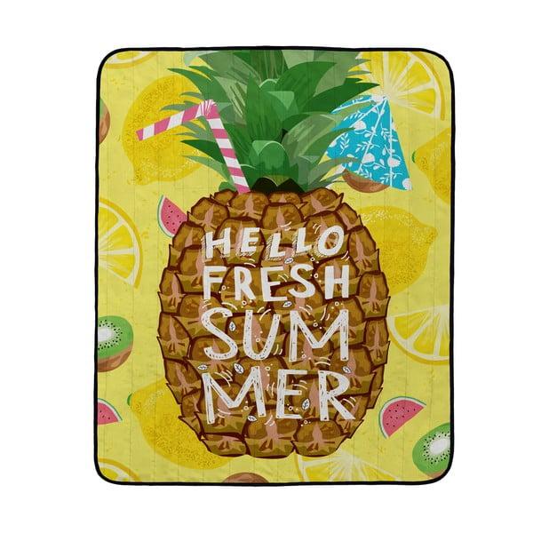 Koc piknikowy Butter Kings Fresh Pineapple, 180x145 cm