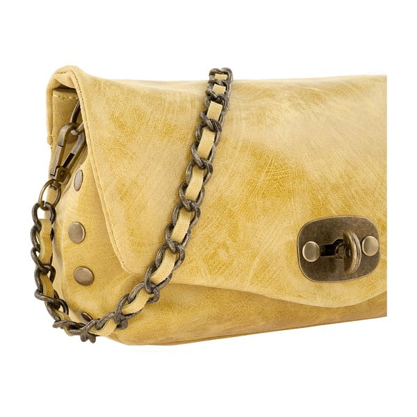 Kožená kabelka Italiana, yellow