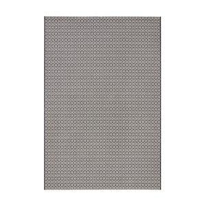 Černo-bílý koberec vhodný do exteriéru Bougari Meadow, 160x230cm
