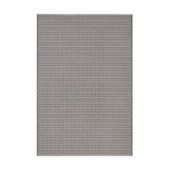 Covor adecvat interior/exterior Bougari Meadow, 140 x 200 cm, alb-negru de la Bougari