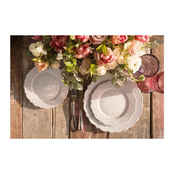 Sada 4 talířů Katie Alice Embossed, 21 cm