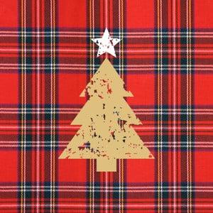 Balení 10 papírových ubrousků s vánočním motivem PPD Tartan Tree Red