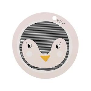 Dětské silikonové prostírání OYOY Penguin, ⌀ 39 cm