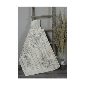Krémová bavlněná koupelnová předložka My Home Plus Relax, 60 x 60 cm