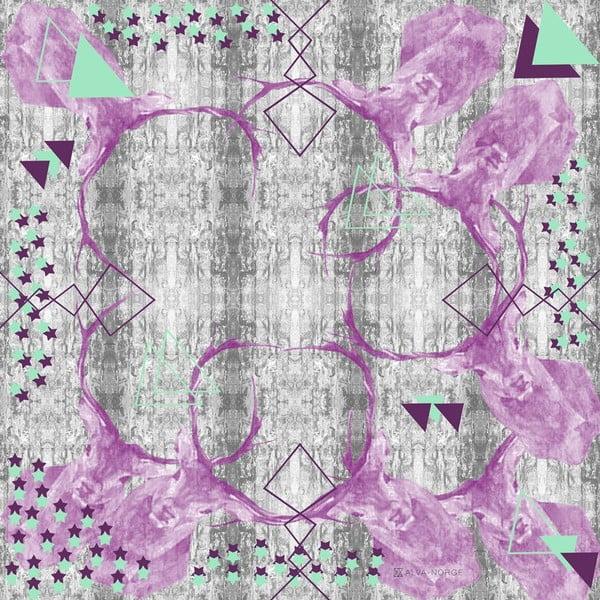 Hedvábný šátek Staggered, 130x130 cm