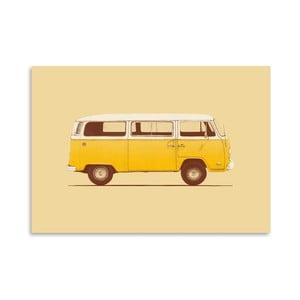 Plakát Yellow Van od Florenta Bodart, 30x42 cm
