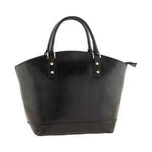 Kožená kabelka Pure Italia, černá