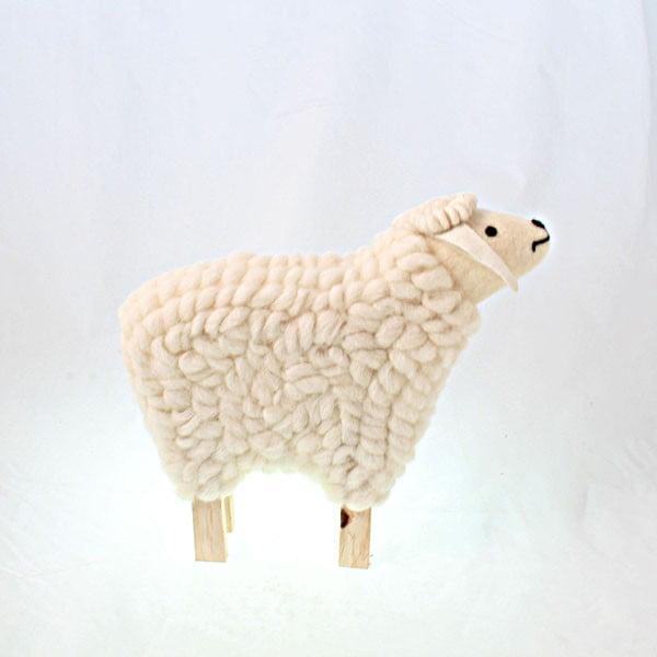Dekorativní dřevěná ovečka, 30 cm
