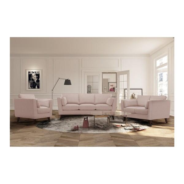 Pudrově růžová 2místná pohovka Jalouse Maison Elisa