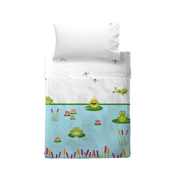Dětský povlak na polštář a přehoz Mr. Fox Happy Frogs, 120x180 cm