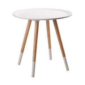 Bílý odkládací stolek Zuiver Two Tone