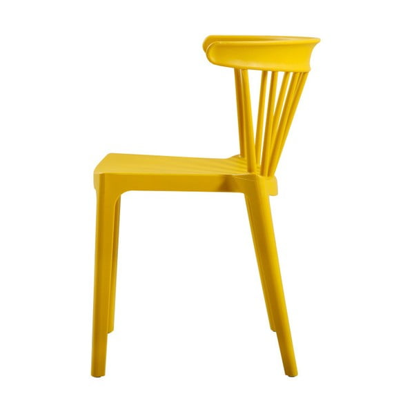 Žlutá židle jídelní WOOOD Bliss