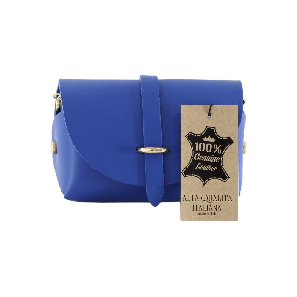 Modrá kožená kabelka Chicca Borse Loira