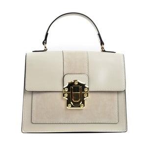 Béžová kožená kabelka Isabella Rhea Misso