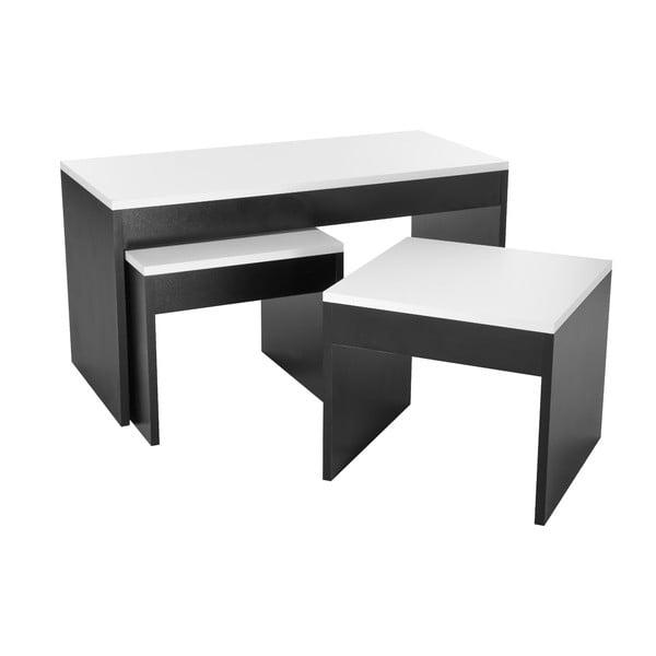 Konferenční stolek se 2 stoličkami Sebboy Black