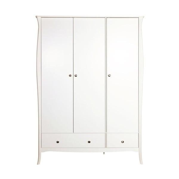 Bílá třídvéřová šatní skříň Steens Baroque