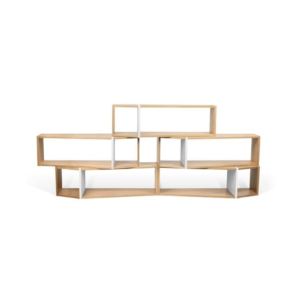 Sada 5 hnedo-bielych regálov TemaHome One, 120 × 175 cm