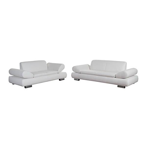 Sada 2 krémových pohovek pro 2 a pro 3 s nastavitelnou područkou Max Winzer Palm Bay