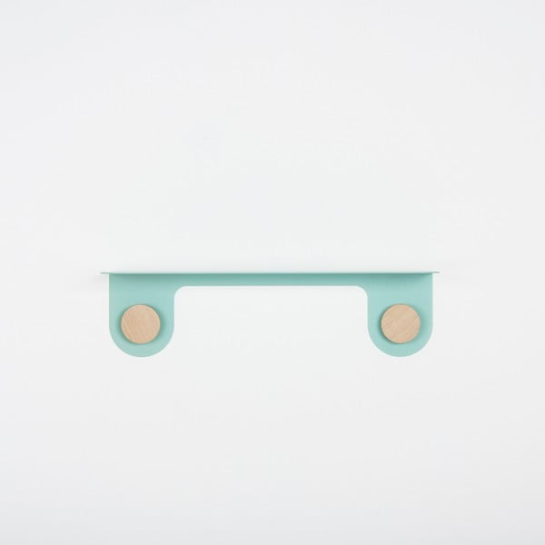 Hook zöld fali polc 2 akasztóval, hosszúság 50 cm - Gazzda