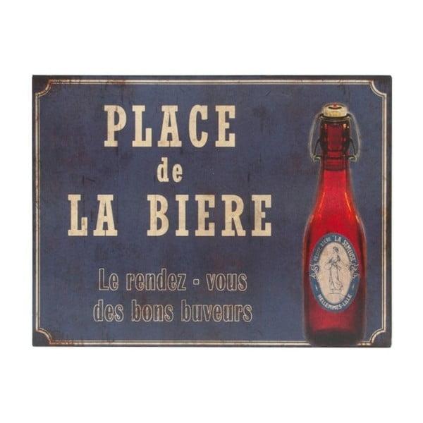 Plechová cedule Antic Line Place De La Biere