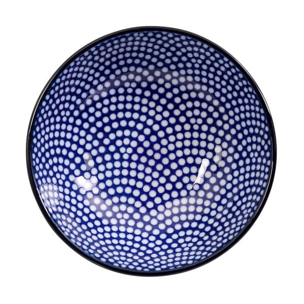 Niebiesko-biały talerz Tokyo Design Studio Nippon Dot, ø9,5cm