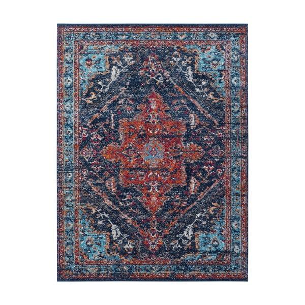 Azrow sötétkék-piros szőnyeg, 120 x 170 cm - Nouristan