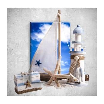 Tablou de perete 3D Mosticx Sea Life, 40 x 60 cm de la Mosticx