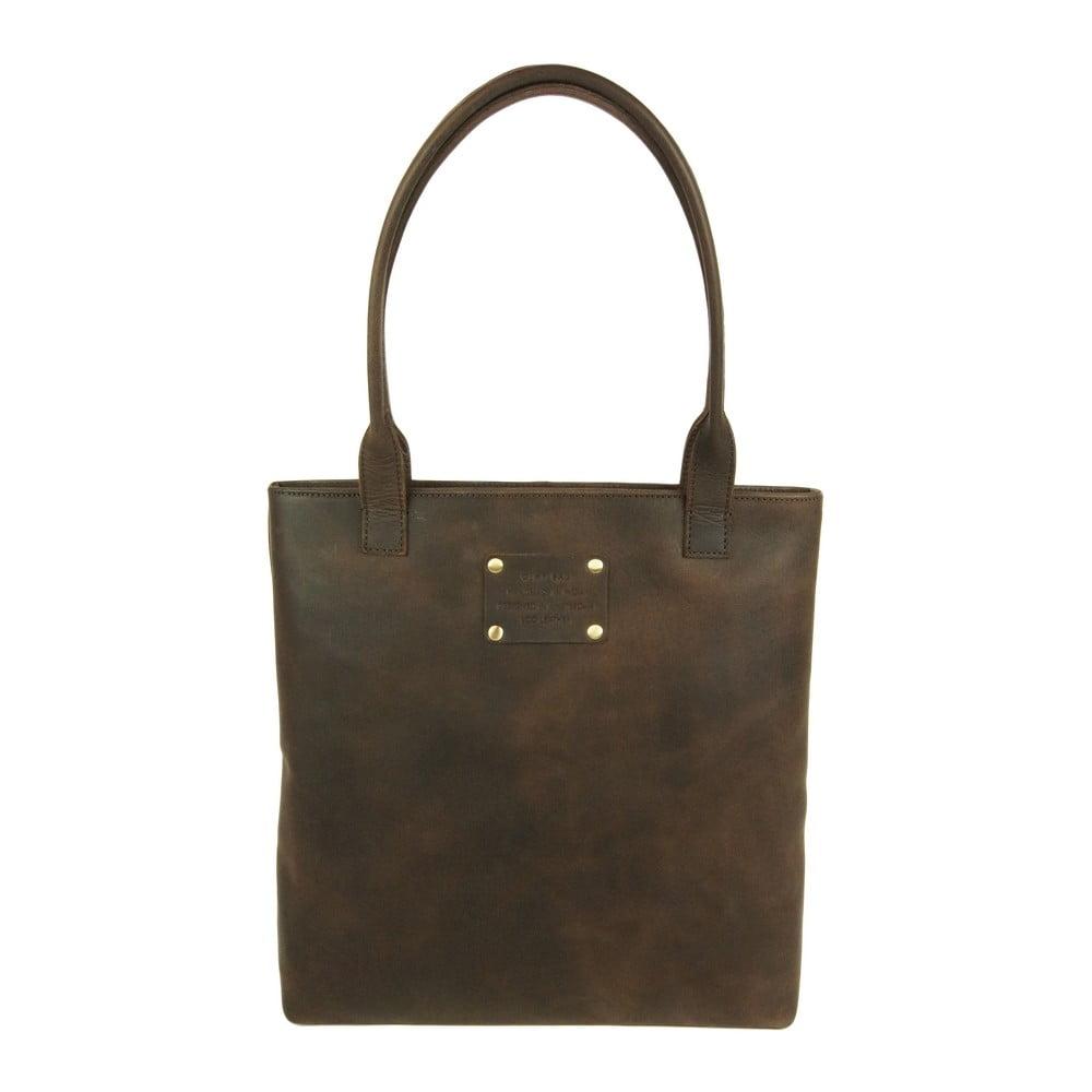 Kožená kabelka O My Bag Posh Stacey midi, hnědá