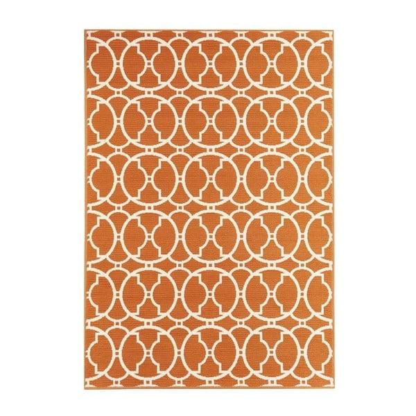 Covor foarte rezistent Floorita Interlaced, 133x190cm, portocaliu