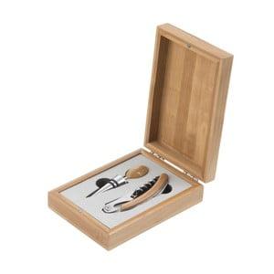 Dvoudílná sada na víno v dárkové krabičce z bambusu Brandani Wine