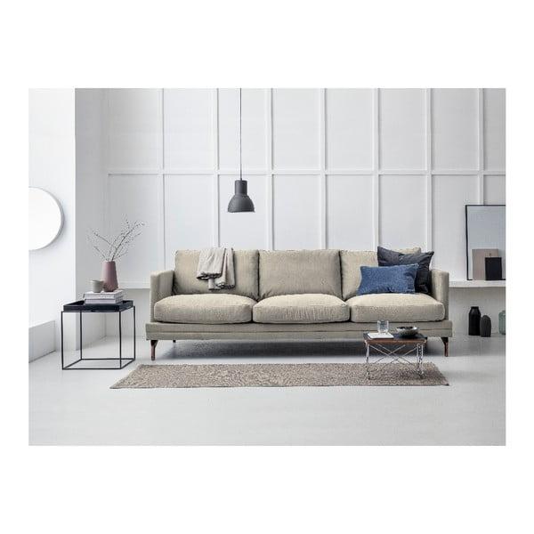 Béžová trojmístná pohovka s podnožím ve zlaté barvě Windsor & Co Sofas Jupiter