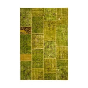 Vlněný koberec Allmode Patchwork Green, 150x80 cm