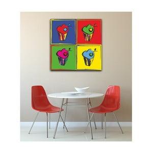Tablou Pop Art Muffin, 50 x 50 cm