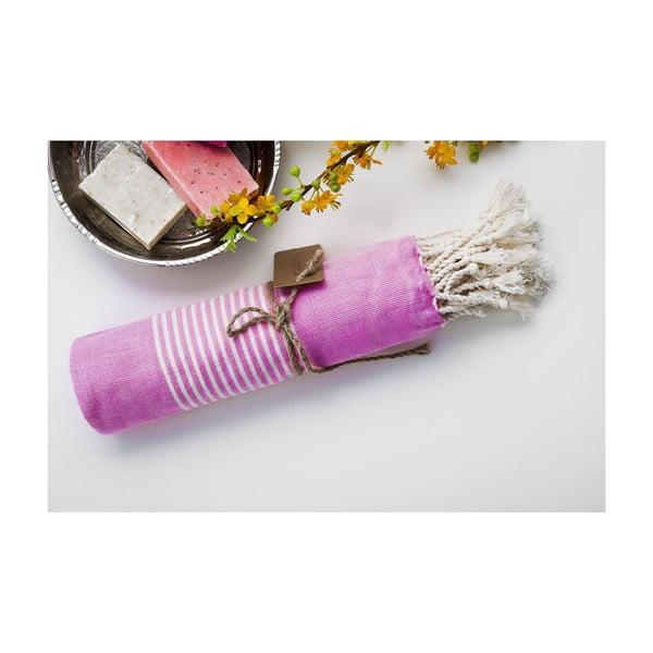 Hamam osuška Line Pink, 100x180 cm