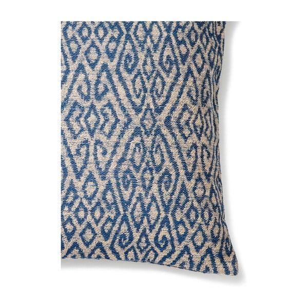 Modrý polštář Casa Di Bassi Ikat, 50x50cm
