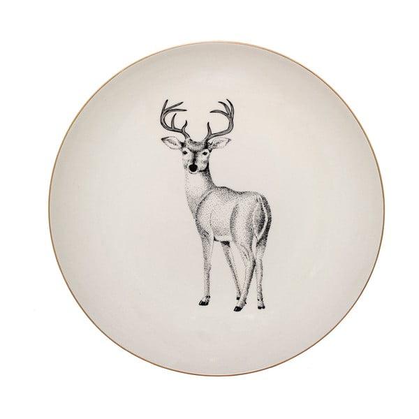 Biely kameninový tanier Bloomingville Noel, ⌀ 25 cm