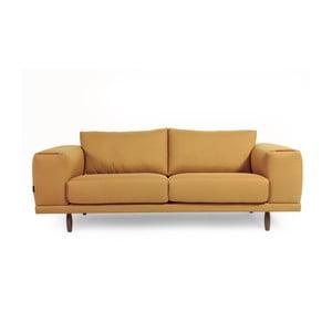 Žlutá  třímístná pohovka Charlie Pommier Relax